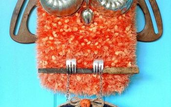 Repurposed Kitchen Stuff Owl Door Decor