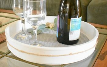 wine serving tray with pumpkin insert recycled project