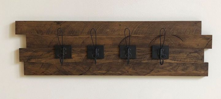 how to make a diy rustic wood coat key rack