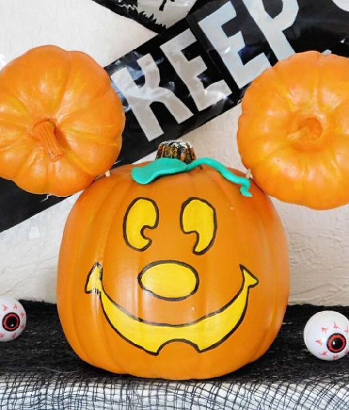 main street mickey pumpkin tutorial