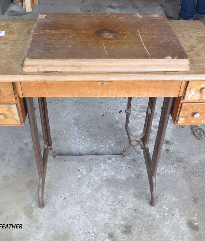 singer sewing table makeover