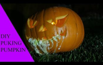 how to make puking pumpkin for halloween