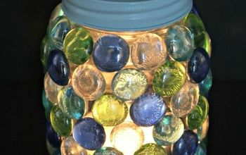 how to make a beautiful glass gem lantern