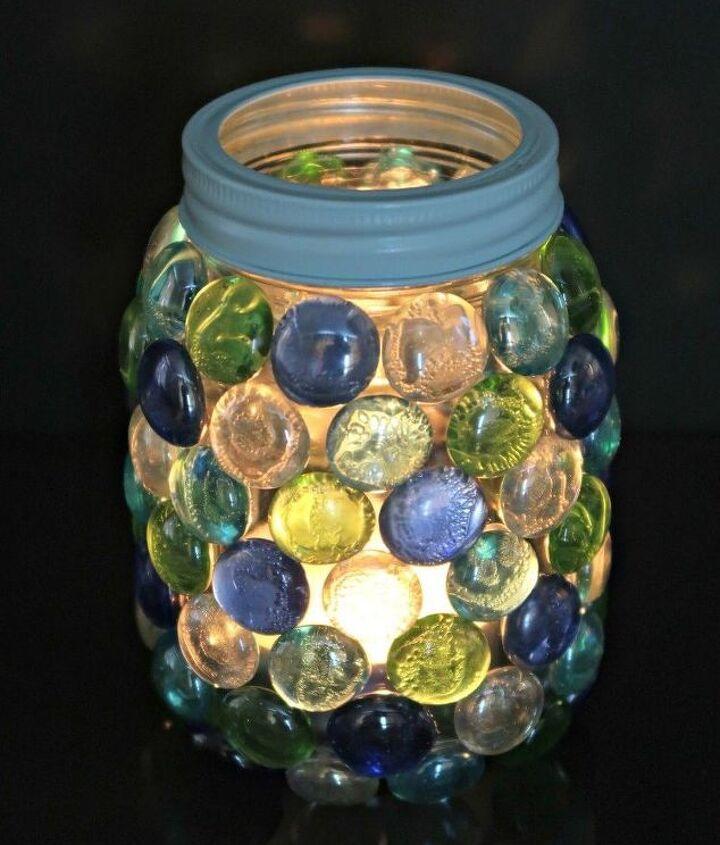 how to make a beautiful glass gem lantern