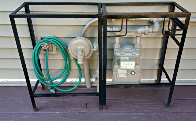 hiding an ugly utility meter
