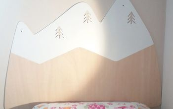 kids deco mountains headboard