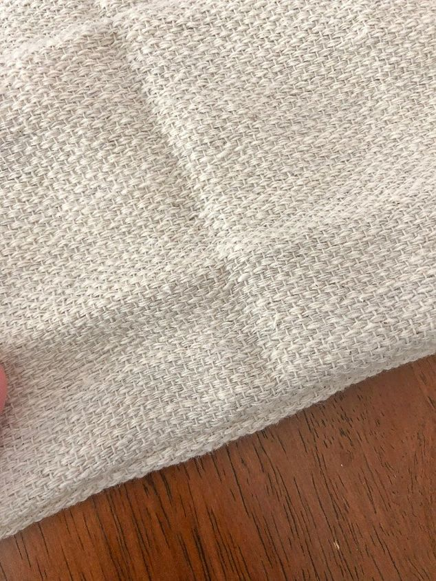 how to make a table runner out of a drop cloth