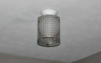easy globe ceiling light makeover that is renter friendly