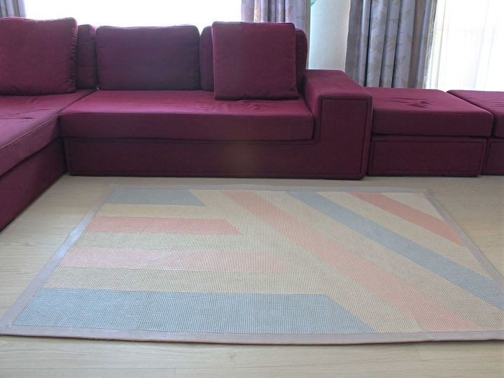 diy recycled painted rug