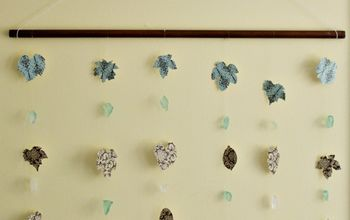 Make A Pretty Fall Paper Leaf Wall Hanging