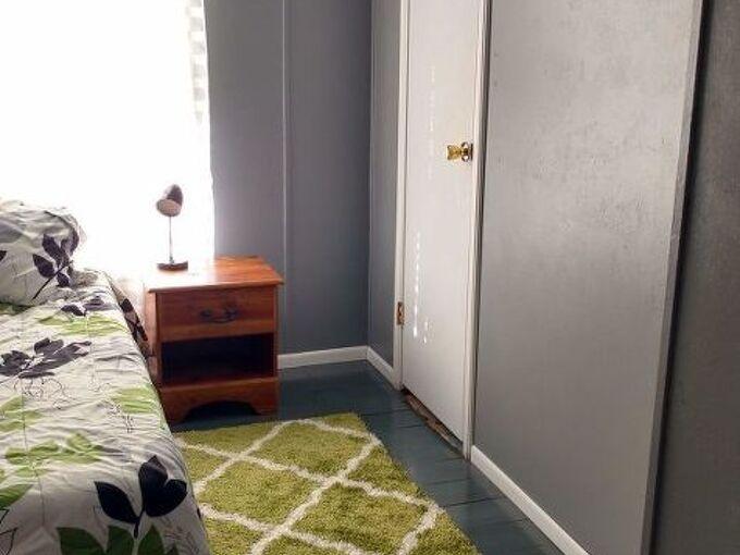 plywood plank flooring, Finished room