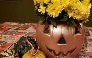 Easy Peasy Pumpkin Planter