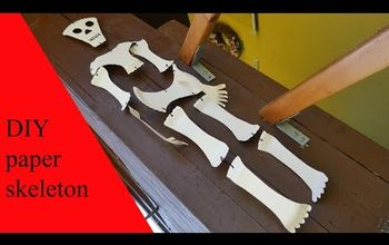 diy paper skeleton