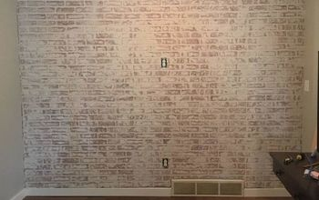 DIY Faux Brick Accent Wall Tutorial - With Whitewash!