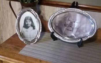 from serving platter to picture frame