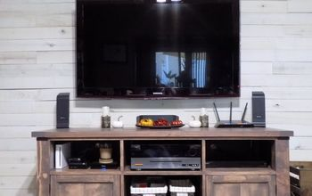 diy rustic media console tv stand