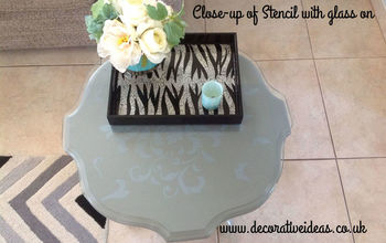 Stencilled ASP Paris Grey Side Table
