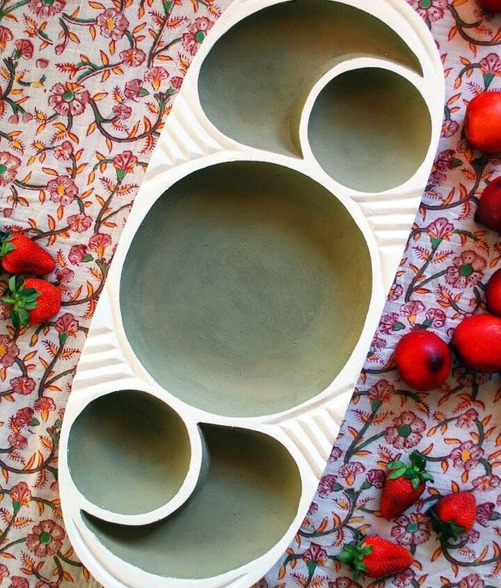 scandi wood serving bowl