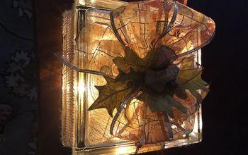 Christmas and Fall Glass Blocks