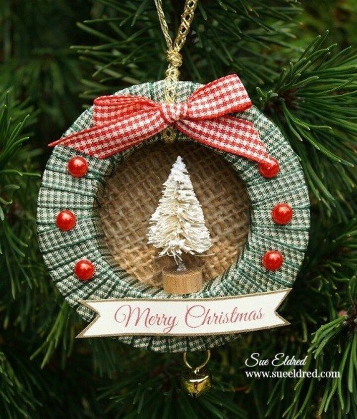 mini ribbon wreath ornaments