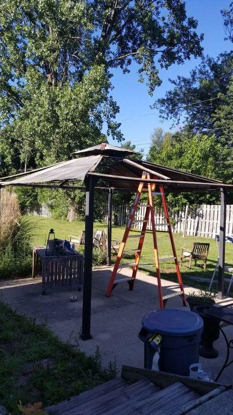 diy tin roof gazebo