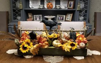 crows sunflowers centerpiece