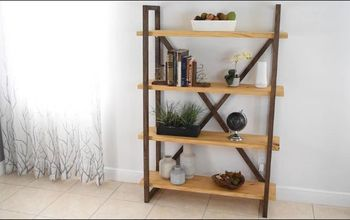 diy rustic bookshelf and storage
