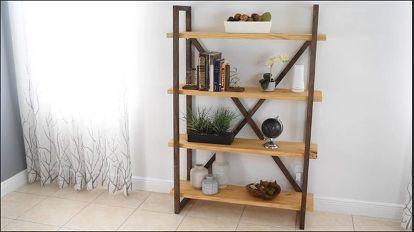 how to build a diy rustic bookshelf and storage hometalk