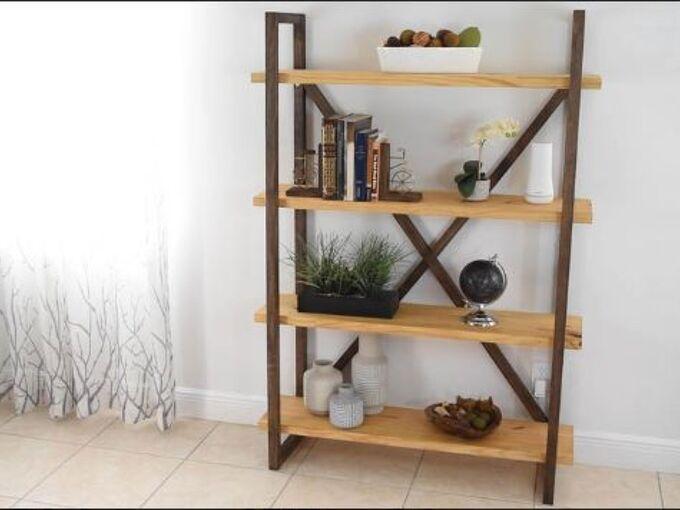 diy rustic bookshelf and storage