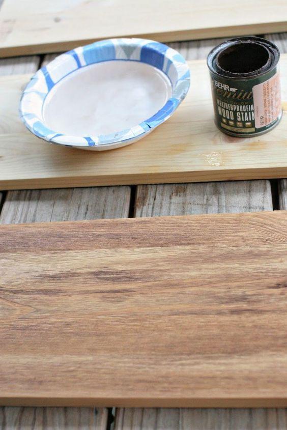 faux reclaimed wood shelves