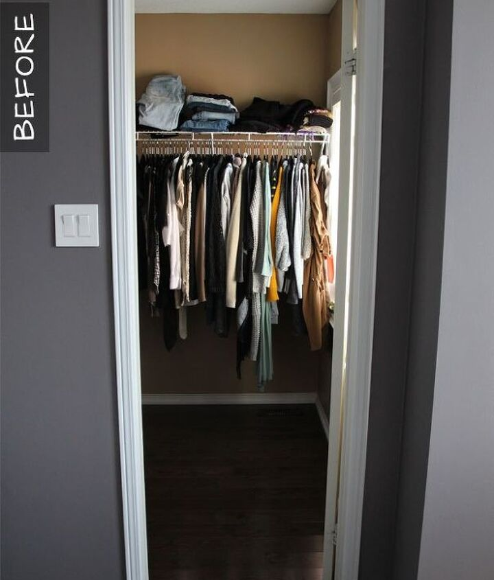 my diy master walk in closet reveal