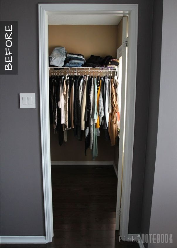 my diy master walk in closet reveal