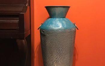 Brighten Up Old Metal Vase