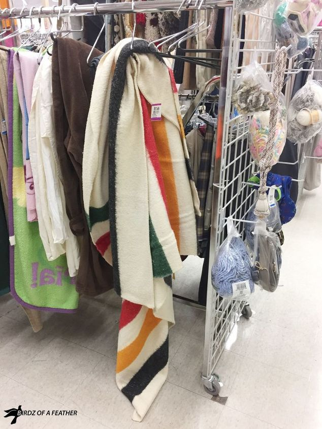 hudson s bay point blanket inspired upcycle ikea hack