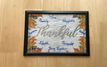 Dry Erase Thankful Board