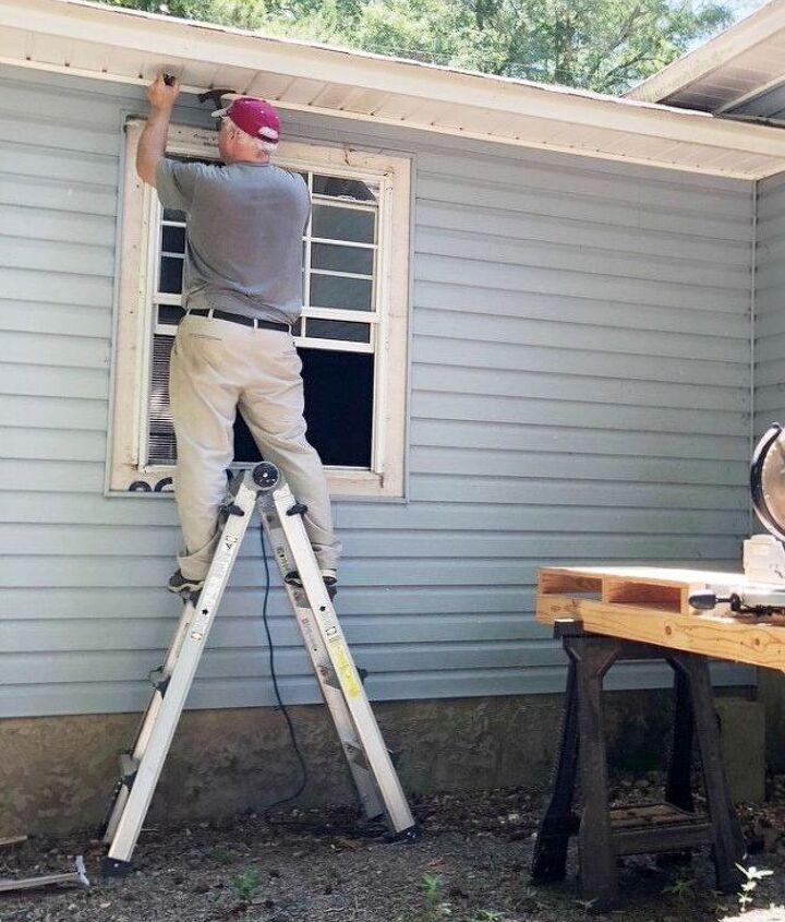 how we converted a window into a door