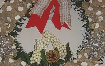 holiday wreath using dollar tree items