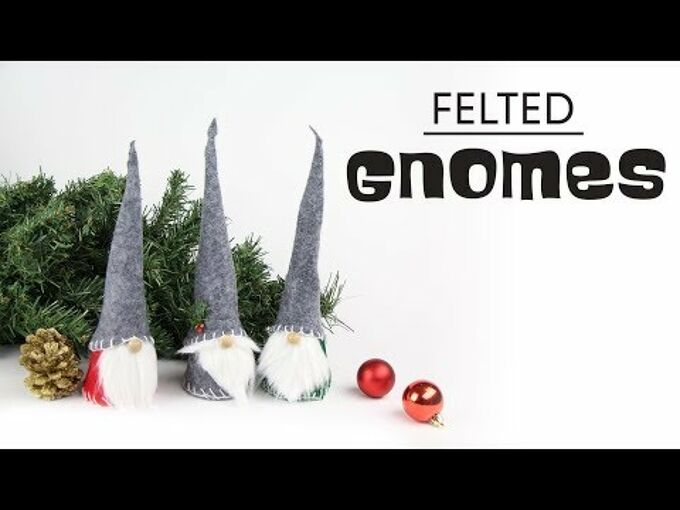 diy felted gnomes