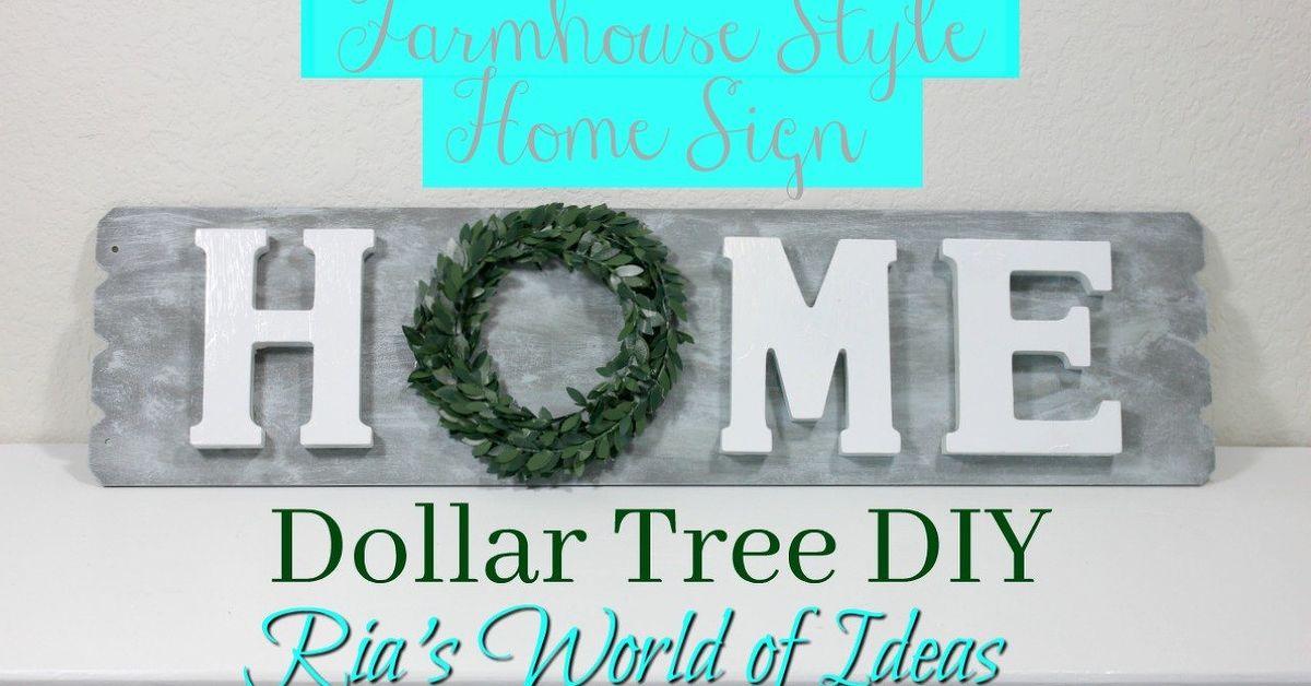 Dollar Tree Diy Farmhouse Style Home Sign Home Decor Budget Hometalk