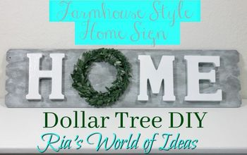 Dollar Tree DIY | Farmhouse Style Home Sign | Home Decor | Budget