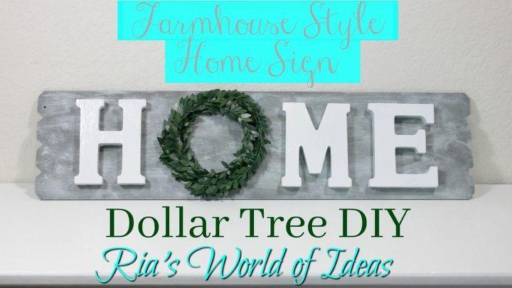 Dollar Tree Diy Farmhouse Style Home Sign Home Decor