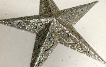 glittered bed spring stars