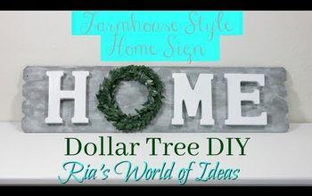 dollar tree diy farmhouse style home sign home decor budget