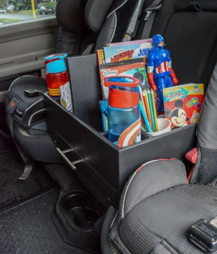 diy road trip backseat car organizer