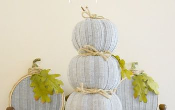 Pumpkin Topiary & Embroidery Hoop Pumpkins