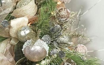 blush colored christmas tree