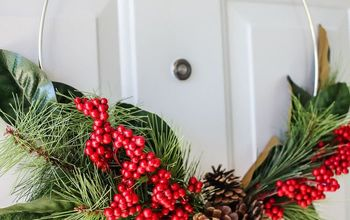 DIY Christmas Hoop Wreath
