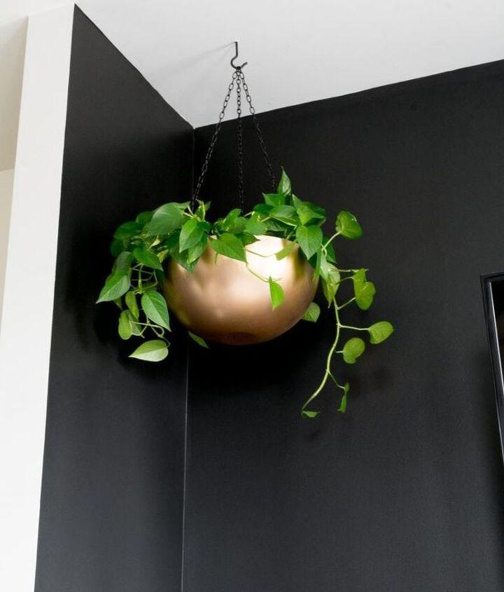 stainless steel bowl hanging planter diy