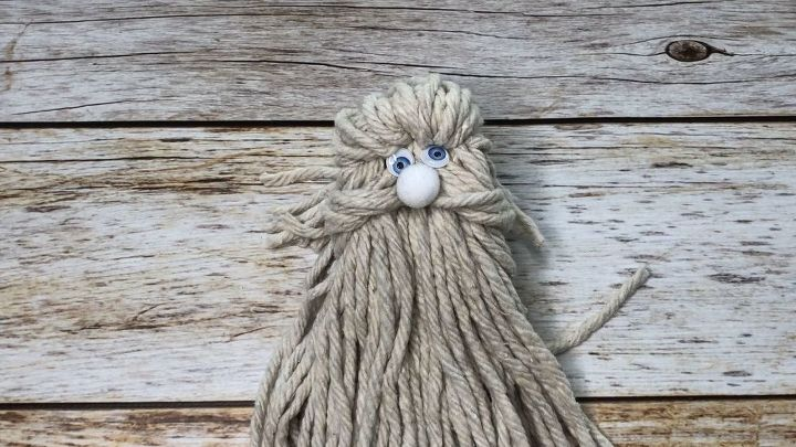 make a santa head out of a mop