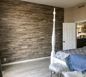 L And Stick Vinyl Plank Accent Wall